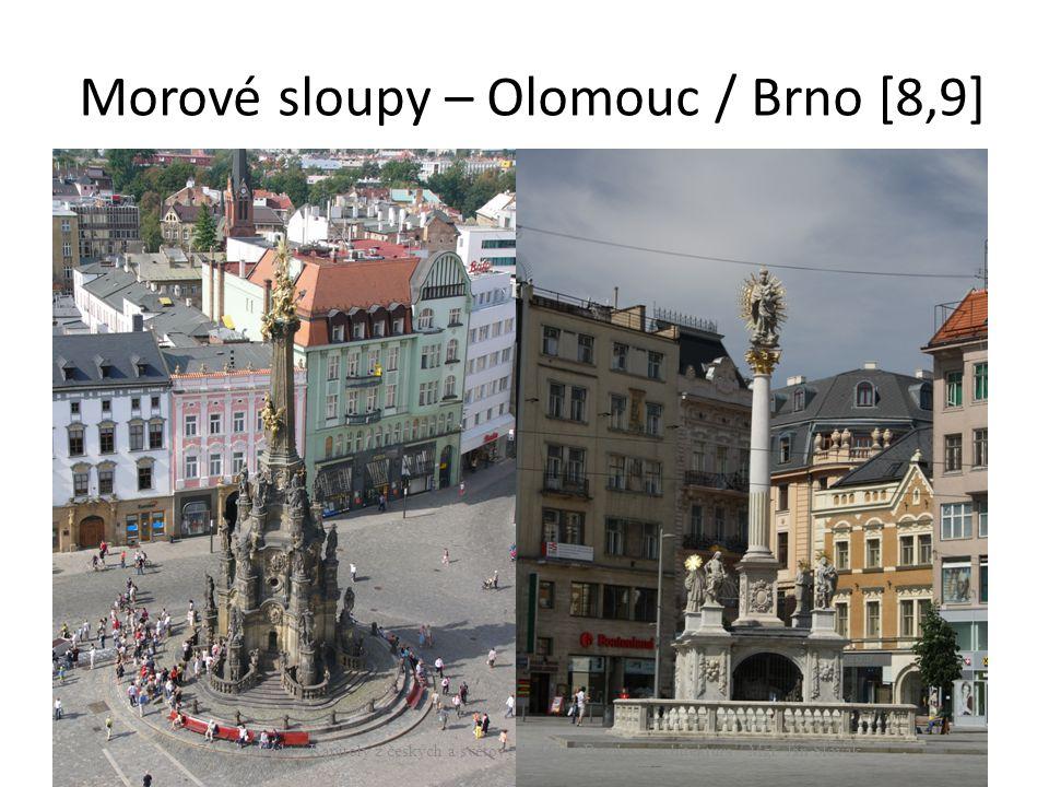 Morové sloupy – Olomouc / Brno [8,9]